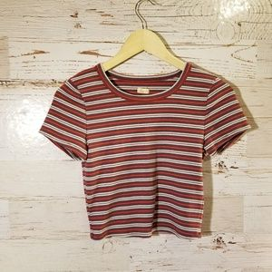Hollister short sleeve stripe top